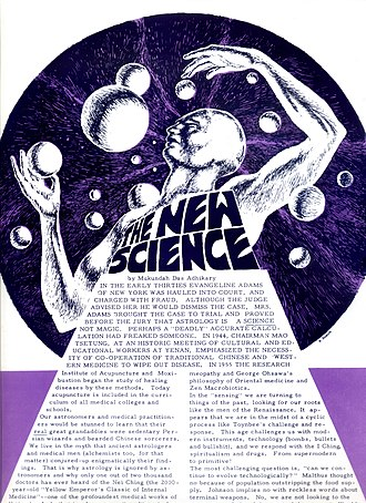 Mantra-Rock Dance - Image: The New Science article by Mukunda Das in the San Francisco Oracle, january 1967