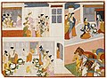 The Pandavas in King Drupad's Court, Folio from a Mahabharata ((War of the) Great Bharatas) LACMA AC1999.127.37.jpg