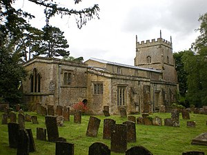 English: The Parish Church of St Kenelm's, Ens...