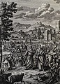 The Phillip Medhurst Picture Torah 317. The plague of lice. Exodus cap 8 vv 17-19. Pintz.jpg