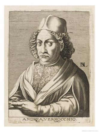 Andrea del Verrocchio - Portrait of Verrocchio by Nicolas de Larmessin