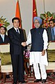 The Prime Minister, Dr. Manmohan Singh at a bilateral meeting with the President of the People's Republic of China, Mr. Hu Jintao, on the sidelines of the BRICS Summit, in New Delhi on March 29, 2012.jpg