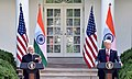 The Prime Minister, Shri Narendra Modi and the President of United States of America (USA), Mr. Donald Trump at the Joint Press Statement, at White House, in Washington DC, USA on June 26, 2017 (3).jpg