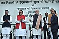 The Prime Minister, Shri Narendra Modi laying the foundation stone of 150 bedded ESI Super Speciality Hospital, in Varanasi, Uttar Pradesh.jpg