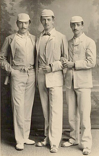 Studd brothers - Kynaston Studd (left), Charles Studd (centre) and George Studd (right)