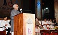 The Vice President, Shri M. Hamid Ansari addressing the gathering after launching MPower programme under 'Anuyatra' campaign of Government of Kerala, in Thiruvananthapuram, Kerala.jpg