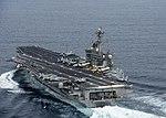 The aircraft carrier USS Carl Vinson (CVN 70) transits the Pacific Ocean. (28329470132).jpg