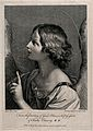The angel in the Annunciation. Engraving by R. Strange after Wellcome V0018685.jpg