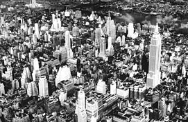 Una veduta aerea del centro di Manhattan nel 1932