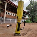 The first petrol pump station in Botswana during the colonial period.jpg