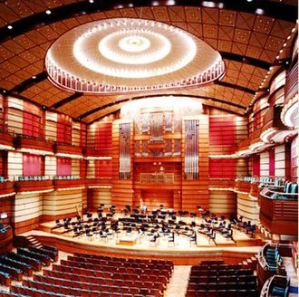 Petronas Philharmonic Hall - View from the box seat (Circle floor), next to the royal suite, overlooking the stage and the pipe organ