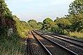 The lines towards Wrexham, Hope railway station (geograph 4032676).jpg
