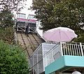 The old St Nicholas Cliff Lift from the base station, Scarborough.jpg