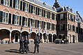 """The so called """"Binnenhof"""" with the parliament buildings. Look how guarded they are , after terrorists attacks in Paris - panoramio.jpg"""