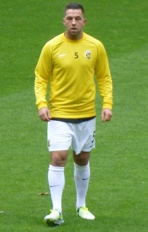 Theo Janssen - Janssen warming up for Vitesse in 2012.