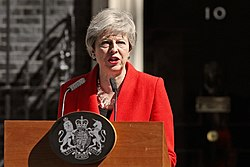 Theresa May declares resignation (cropped)