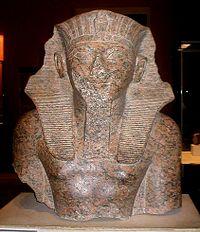 Thutmose IV (Tutmosis IV). Fragmento en el Museo del Louvre