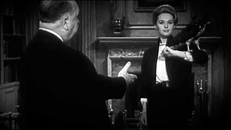 Tippi Hedren - Hedren with Alfred Hitchcock in a teaser for The Birds