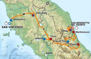 Tirreno–Adriatico - Route of the 2012 Tirreno–Adriatico