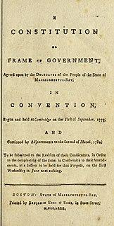 Constitution of Massachusetts state constitution