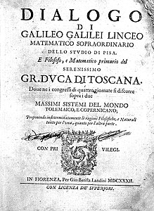 "Title page ""Dialogo...Florence"", Galileo, 1632 Wellcome L0000175.jpg"