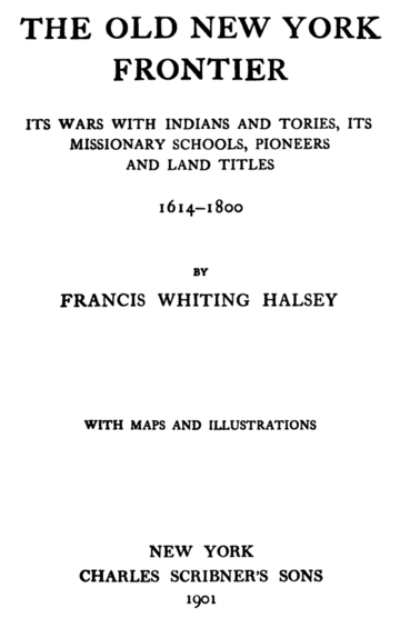 Title Page for The Old New York Frontier