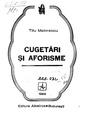 Titu Maiorescu - Cugetari si aforisme.pdf
