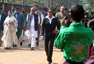 Shivendra Bijoy Malla Deb - Shivendra Bijoy Malla Deb with Mamata Banerjee at an election campaign in Jhargram