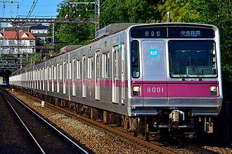Tokyo Metro 8000 series - Image: Tokyo Metro 8000 series Tokyu Den en toshi Line 20170721