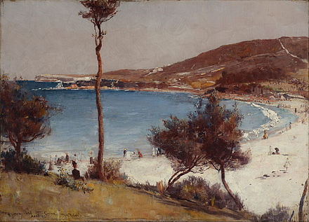 Holiday sketch at Coogee, 1888, Art Gallery of New South Wales Tom Roberts - Holiday sketch at Coogee - Google Art Project.jpg