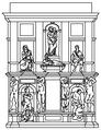 Tomba di giulio II, progetto del 1532.png