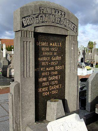 Maurice Garin - Image: Tombe de la famille Garin