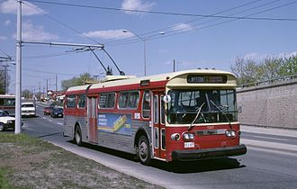 Bus - A Toronto Transit Commission bus system trolleybus in Toronto