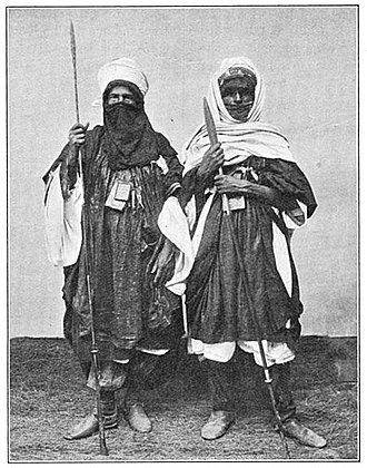 Kaocen revolt - Tuareg warriors, photographed 1906.