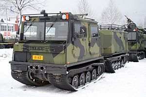 Tracked transport vehicle Sisu NA 110