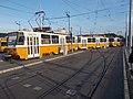 Tram 4051, line 1, tram points, 2019 Kelenföld.jpg