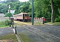 Tram arriving from Douglas - Laxey Station - geograph.org.uk - 96240.jpg