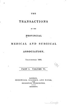 Transactions of the Provincial Medical and Surgical Association, volume 6, part 1.djvu