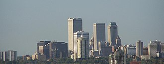 Tulsa, Oklahoma - The Tulsa downtownskyline as viewed from Turkey Mountain on April 14, 2007