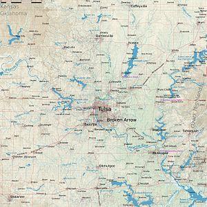 Tulsa metropolitan area - Regional Map