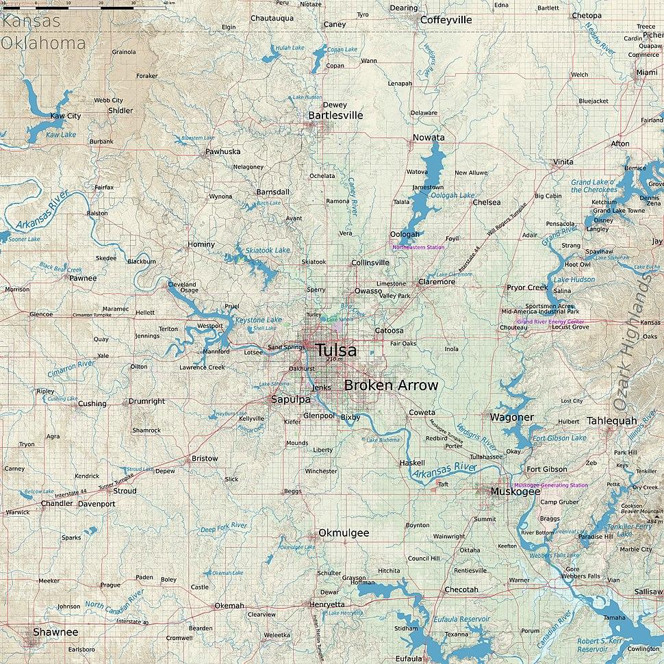 Tulsa terrain