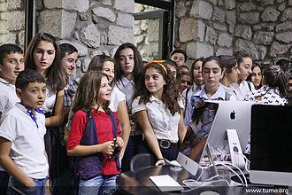 Demographics of the Republic of Artsakh - Children at Tumo Center Artsakh branch