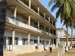 The exterior of the Tuol Sleng Genocide Museum, Phnom Penh