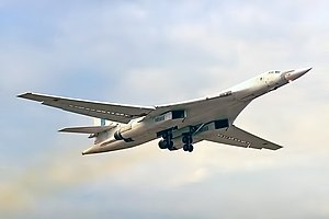 Long Range Aviation - A Tu-160 in Ukrainian colours, 1997.