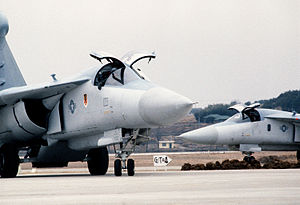 Sacheon Airport - Two 366th Tactical Fighter Wing EF-111 Ravens taxi at Sacheon during Exercise Team Spirit '85