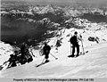 Two skiers on the northeast corner of Mount Baker near Pumice Stone Pinnacle (509719880).jpg