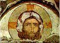 Tympanum over the door. Christ. Vardzia fresco.jpg