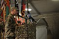 U.S. Army Maj. Gen. Robert Abrams, the commanding general of the 3rd Infantry Division and the incoming Regional Command-South commanding general, speaks to NATO force members, Afghan National Security Force 120902-A-AP855-167.jpg