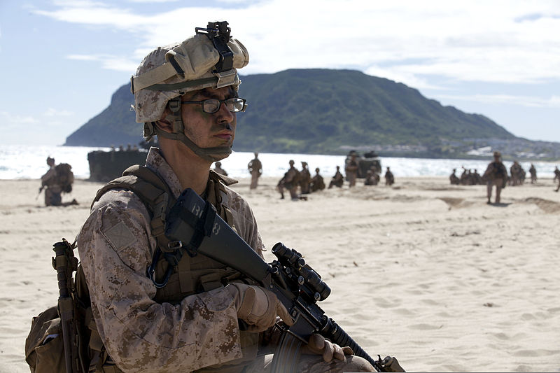 File:U.S. Marine Corps Lance Cpl. Manuel Navarro, a rifleman with ...
