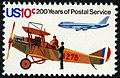 U.S. Postal Service Bicentennial Early Mail Plane and Jet 10c 1975 issue stamp.jpg